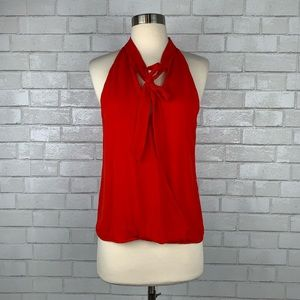 Parker Bow Front Sleeveless Silk Top XS P3055